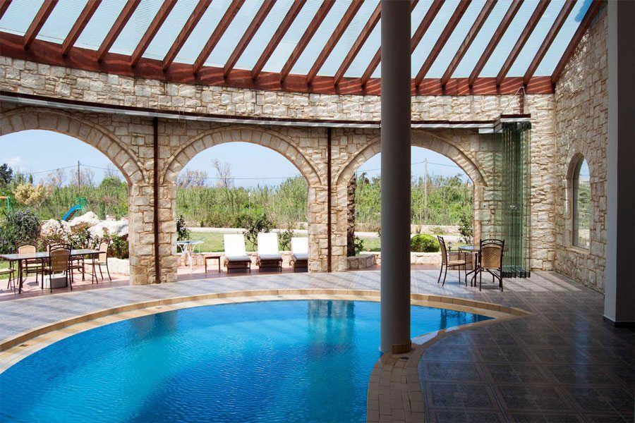 crete villas near the for rent in greece with pool