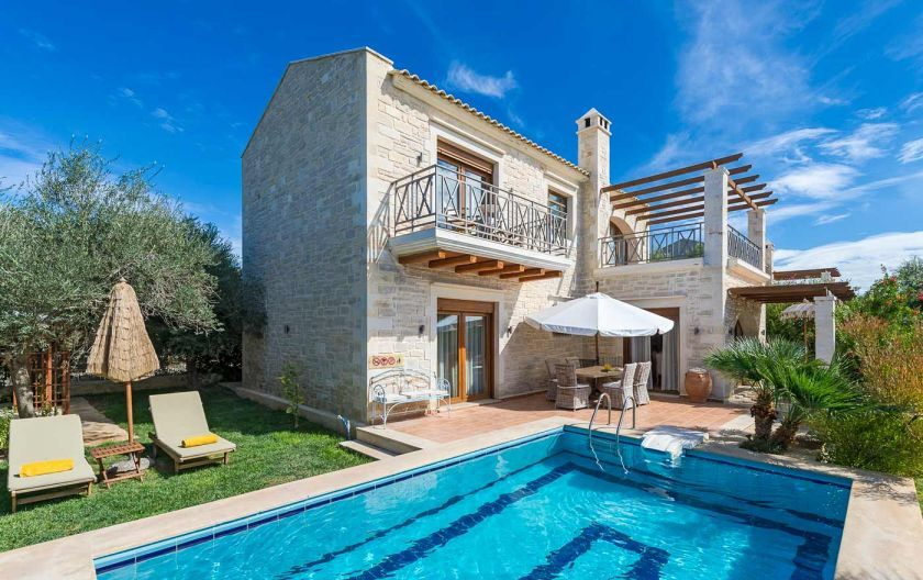 Twin Villas For Rent In Crete Greece Crt164