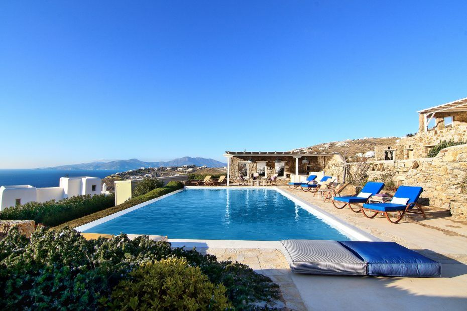 A 3 Bedroom Villa For Rent Private Swimming Pool Mykonos Greece Chora Hora Megali Ammos