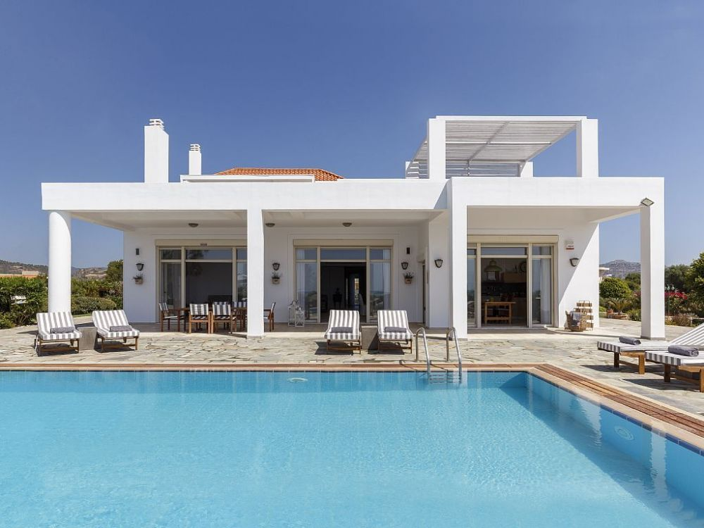 Beach Villa For Rent 4 Bedrooms 40 M To The Sea In Rhodes Island Greece