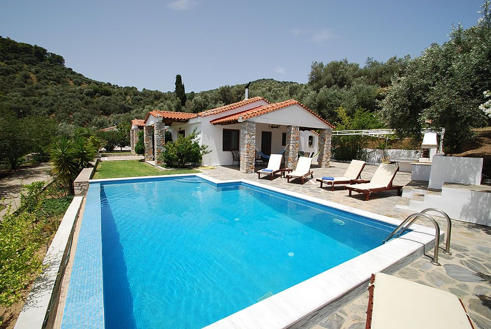 Swimming Pool Villa For Rent In Skiathos Greece Skt040