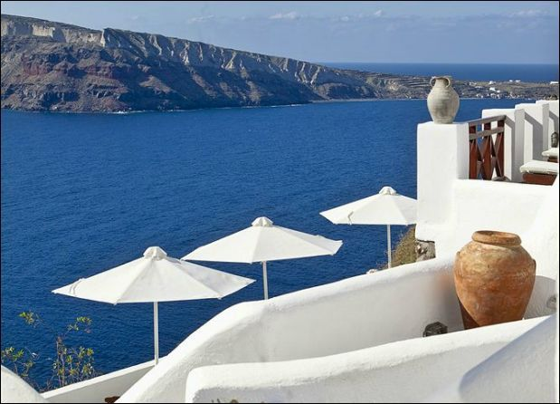 In Santorini Greece